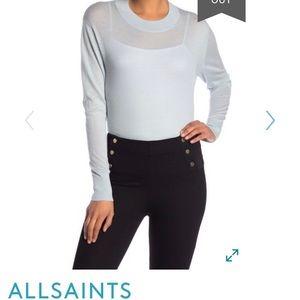 🎈ALL SAINTS Lotus Cashmere Crop Sweater Blue S